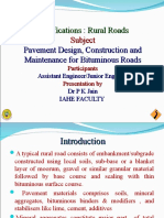 5. Specification of Rural Roads