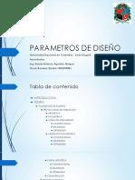 PARAMETROS DE DISEÑO Presentacion-