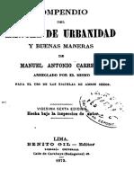 Compendio Del Manual de Urbanidad y Buenas Maneras
