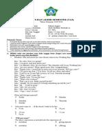 Soal Ujian Kenaikan Kelas 11 SMK Bahasa Inggris