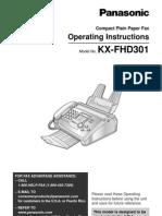 Panasonic KX-FHD301 Fax Machine