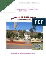 PLAN DE DESARROLLO ACOS VINCHOS