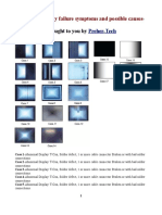 LCD TV Display failure symptoms and possible causes