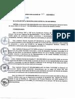 DA Nº 008-2020-Modificar El Cronograma Del Proceso Electoral Para Las Elecciones de Las Juntas Vecinales Comunales 2020