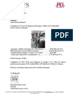 CFSI Cotización  limpieza y diálisis e instalación filtro micronico en Tanque La Unión Antioquia Sumicol 20 Junio  2018