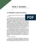 José Moran, La Teología en Busca de Camino