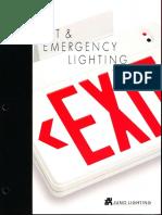 Juno Lighting Exit & Emergency Lighting Catalog 1996