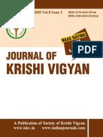 Journal of Krishi Vigyan 8 (2)