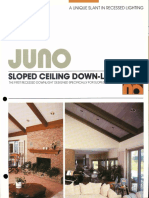Juno Lighting Sloped Ceiling Downlights Brochure 1986