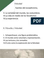 Filosofía y Felicidad 2-2019 SHOPENHAUER y B. RUSSELL