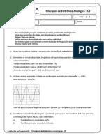 Avaliação de pesquisa 01 - Princípios de Eletrônica Analógica