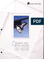 Juno Lighting Trac-Master CMH Metal Halide Series Brochure 1996