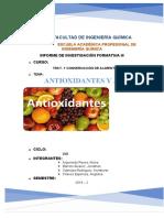 Antioxidantes y Aditivos _ Informe