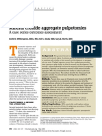 Mineral Trioxide Aggregate Pulpotomies-A Case Series Outcomes Assessment
