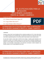 Alternativas de Ecotecnologías para la Investigación en la Región de Cajamarca frente al Cambio Climático
