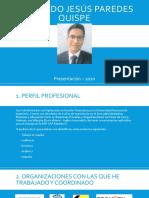 PRESENTACIÓN - Fernando Jesús Paredes Quispe