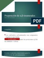 Preparación de α,β-insaturados