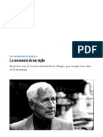 Entrevista con el escritor alemán Ernst Jünger_ La memoria de un siglo _ Babelia _ EL PAÍS