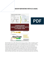 CONFIGURING GROUP REPORTING WITH S/4 HANA 1909.