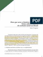 FRAGOSO, J. - Para que serve a história econômica [2002]
