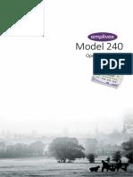 Manual - Audiometro Amplivox 240