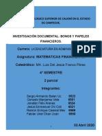 Investigacion Documental-Bonos y papeles financieros