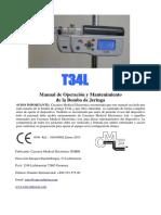 T34L MANUAL OPERACION, INSTALACION Y MANTENIMIENTO ESPAÑOL