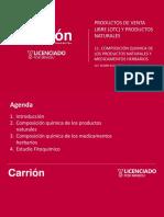 TEMA 11. COMPOSICIÓN QUÍMICA DE LOS PRODUCTOS NATURALES Y MEDICAMENTOS HERBARIOS