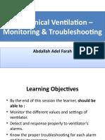 Mechanical ventilation – monitoring & troubleshooting.pptx