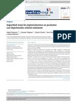 Seguridad renal de espironolactona en pacientes con hipertensión arterial resistente