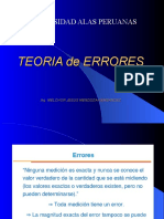 TOPOGRAFIA - TEORIA DE ERRORES