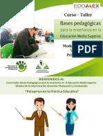 Sesión V-1 Curso Taller Bases Pedagógicas para la enseñanza en EMS 11 junio 2020