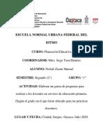 Guion de Entrevista Planeacion Educativa Unidad II