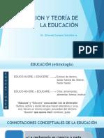 EDUCACION Y TEORÍA DE LA EDUCACIÓN