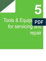5 Herramientas y equipo para servicio