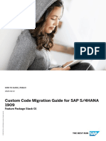 Custom Code Migration Guide for SAP S4HANA 1909 Feature Package Stack 01 - 20200212