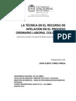 TECNICAS DE APELACION