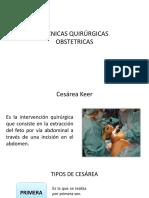 TÉCNICAS QUIRÚRGICAS OBSTETRICAS PDF