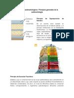 Principios generales de la sedimentología