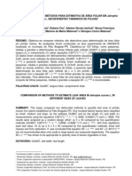 2010 - Comparação entre métodos para estimativa de área foliar em Jatropha curcas L em diferentes tamanhos de folhas P
