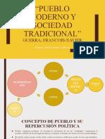 Pueblo moderno y sociedad tradicional