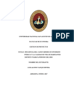 INFLUENCIA DEL CANON MINERO EN INVERSIÓN PÚBLICA Y LA CALIDAD DE VIDA DE HABITANTES DISTRITO TIABAYA 2011-2015