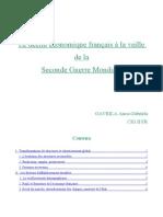 le déclin économique français  à la veille de la Seconde Guerre Mondiale