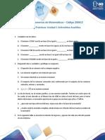 Ejercicios practicos unidad 1 Aritmética analítica