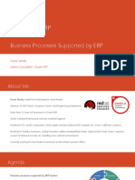 Overview of ERP - Business Processes in ERP
