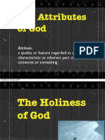 Evans, Our God is Awesome -God's Holiness
