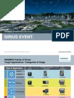 Sinamics frekvensomformere