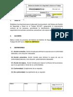 PRC-SST-019 Procedimiento Acción Correctiva, Preventiva y de Mejora