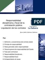 Responsabilidad disciplinaria y fiscal de la contratación pública. Liquidación de los contratos.pdf
