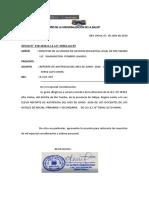 OFICIO DE REPORTE DE ASISTENCIA 2020